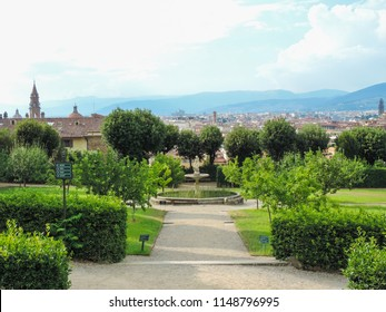 View of a beautiful garden at Florence  - Florence, Italy
