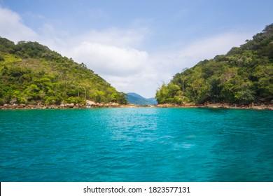 View of the beautiful Green Lagoon (Lagoa Verde) - Ilha Grande, Angra dos Reis, Brazil