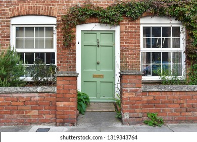 View of a Beautiful House Exterior and Front Door Seen on a London Street