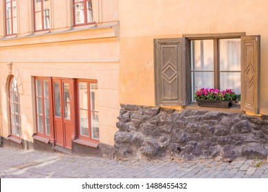 View of a Beautiful House Exterior, Stockholm in a summer day. Classic european architecture.