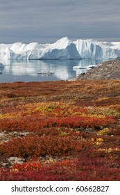 View to the beautiful Kangia glacier near Ilulissat in Greenland