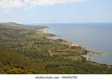 View of beautiful landscape in north Cyprus