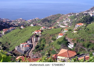 View of beautiful mountains and ocean, Madeira Island, Portugal