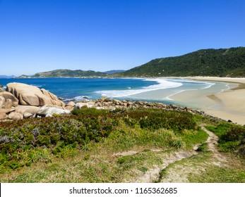 A view of beautiful Praia da Galheta (Galheta beach) in Florianopolis, Brazil