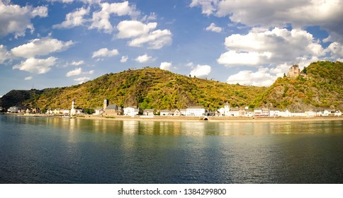 View of beautiful River Rhine on a summer day in St. Goar