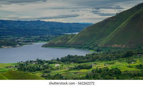 View of beautiful Samosir Island, Indonesia