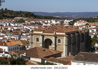 View of the beautiful village of Aracena, Spain.