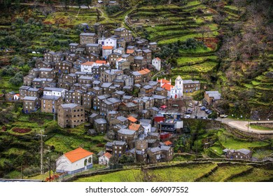 View of the Beautiful Village of Piodao, Portugal