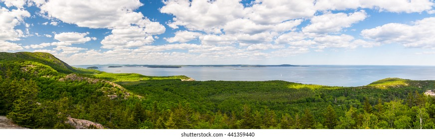View from the Beehive summit at Acadia National Park, Mt. Desert Island Maine