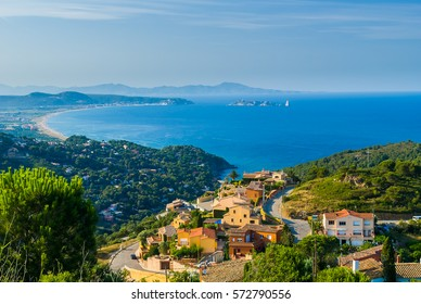 View from Begur hill (Costa Brava, Spain)