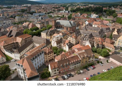 View of Belfort City in France