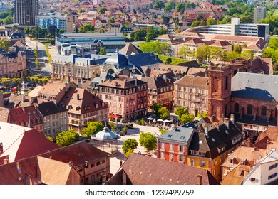 View of Belfort Old Town with Place dArmes square
