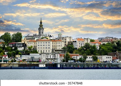 View of Belgrade city from Danube river