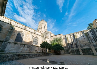 View of the Bell Tower in Arles, Provence, France