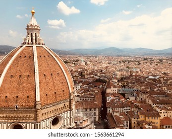 View from the Bell tower of the Duomo and Florence