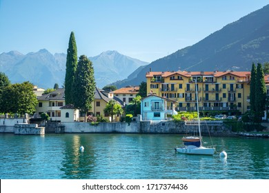 A view of a Bellano town and Como lake, Italy