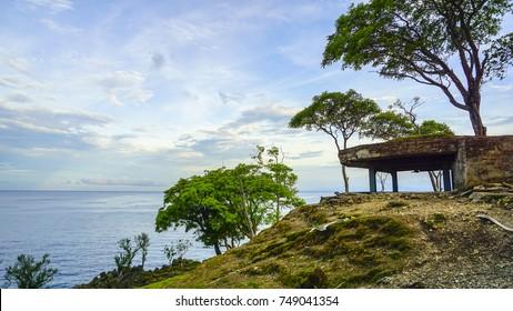 view at Benteng Jepang or Japan fortress at Sabang Island Indonesia