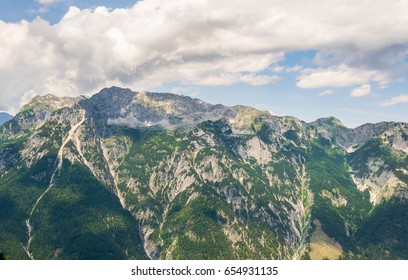 View of the Berchtesgaden alps from the Eisriesenwelt in Austria.