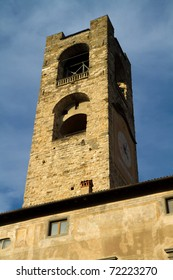 A view of a bergamo historic building