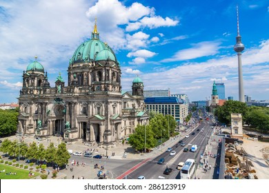 View of Berlin Cathedral in Berlin in beautuful summer day
