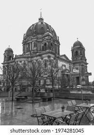 View of the Berlin Cathedral Berliner Dom in Berlin. Berlin, Germany. Black and white photo - Shutterstock ID 1974281045