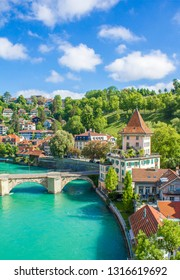 View of Bern. View of the river Aare