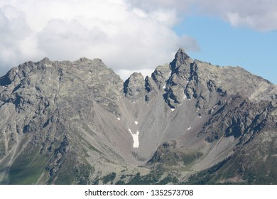 View of Bernina mountains in the Alps ( Switzerland )
