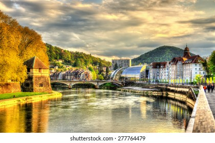 View of Besancon over the Doubs River - France