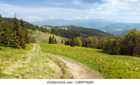 View from Beskid mountains - Poland and Slovakia border, Carpathian mountains