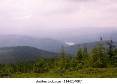 View from Beskydy mountains