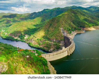 View of Bhumibol Dam, The dam is situated on the Ping in Tak Province Thailand.