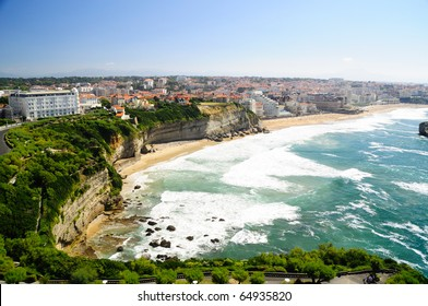 View of Biarritz city center, France