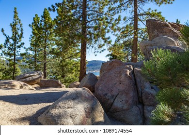 A view of Big Bear Lake from the Castle Rock trail.