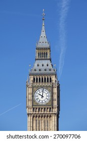 View of Big Ben with blue sky