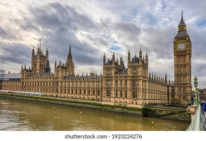 View of Big Ben and the houses of parliament in London, England