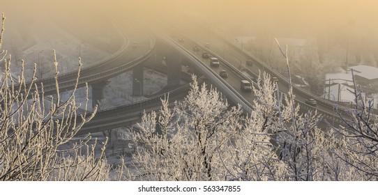 view of the big bridge road
