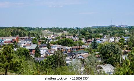 view of Big Nickel Drive, sudbury, ontario, canada.