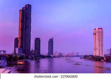 The view of Big river in the City BKK - Image