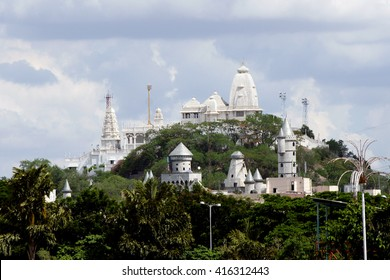 View of the Birla Mandir temple, Hyderabad,India