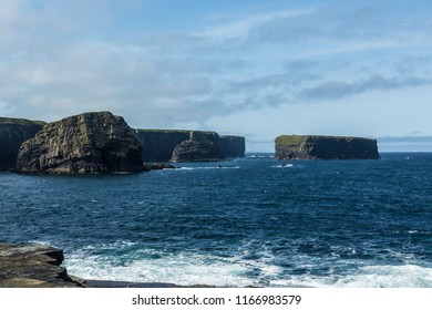 """View of """"Bishop Island"""" Kilkee, County Clare, Ireland. August 2018"""