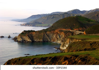 View of Bixby Bridge From Highway One Looking To The North