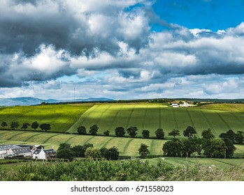 View of Black Isle Farmland seen from Ormond Hill, Avoch, Scotland