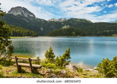 View of The Black Lake (Crno jezero) in Durmitor National Park, Montenegro