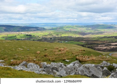 View from the Black Mountain, Carmarthenshire, Wales.