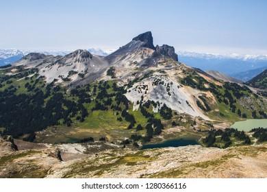 The view of Black Tusk from Panorama Ridge in British Columbia, Canada