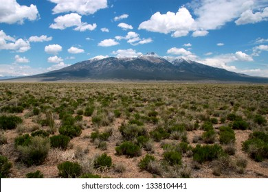 A view of Blanca Peak in Alamosa County, Colorado