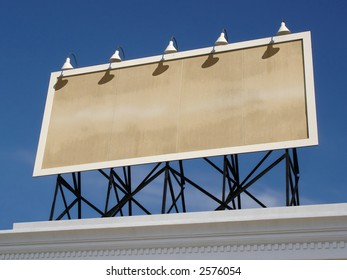 View of a blank vintage billboard.