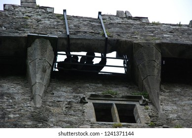 View of Blarney Stone from below