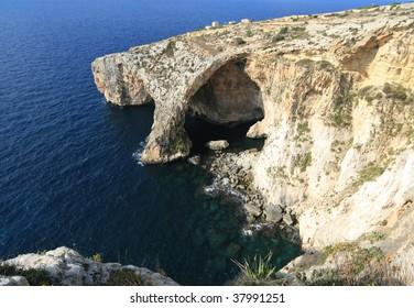 View of Blue Grotto (Malta, Maltese islands)