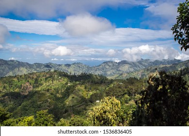 View of the Blue Mountains valley in Jamaica